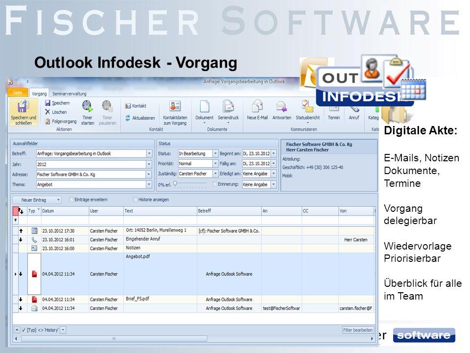 Outlook Infodesk - Vorgang