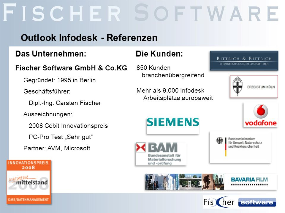 Outlook Infodesk - Referenzen