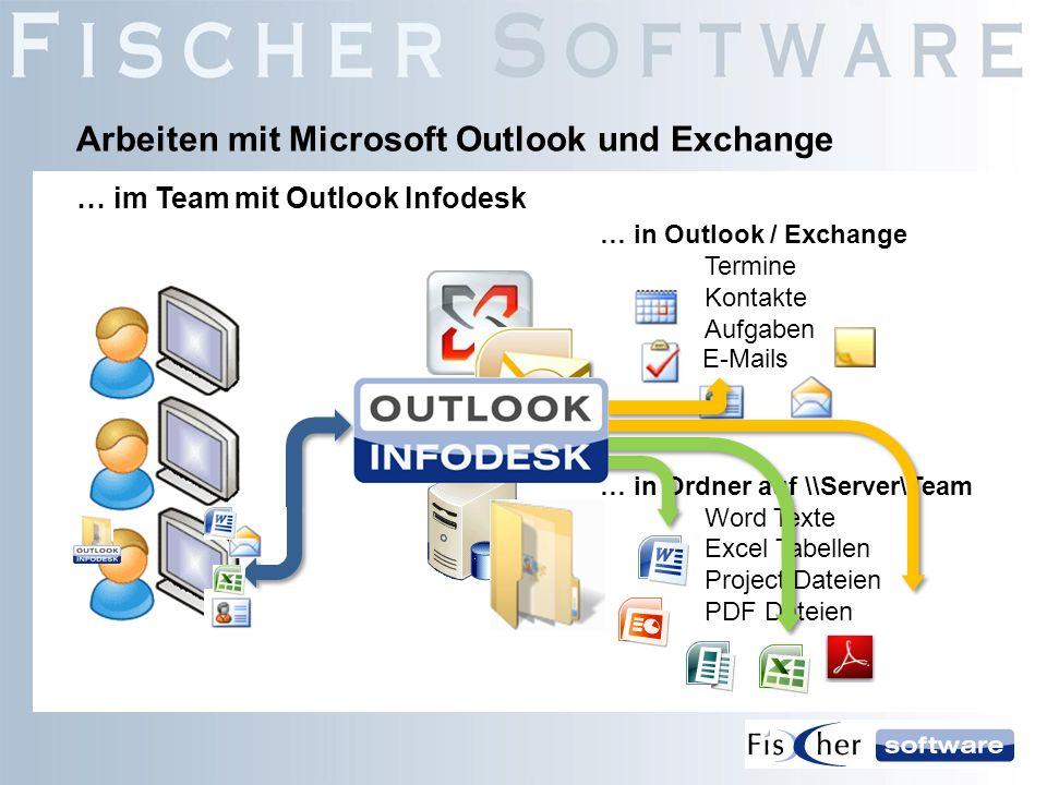 Arbeiten mit Microsoft Outlook und Exchange