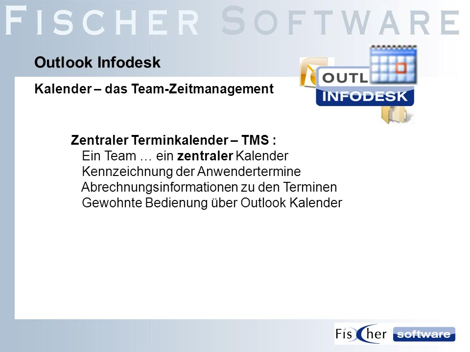 Outlook Infodesk Kalender – das Team-Zeitmanagement