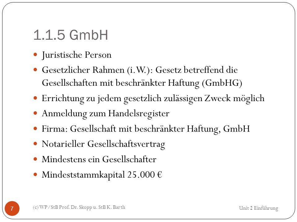 1.1.5 GmbH Juristische Person
