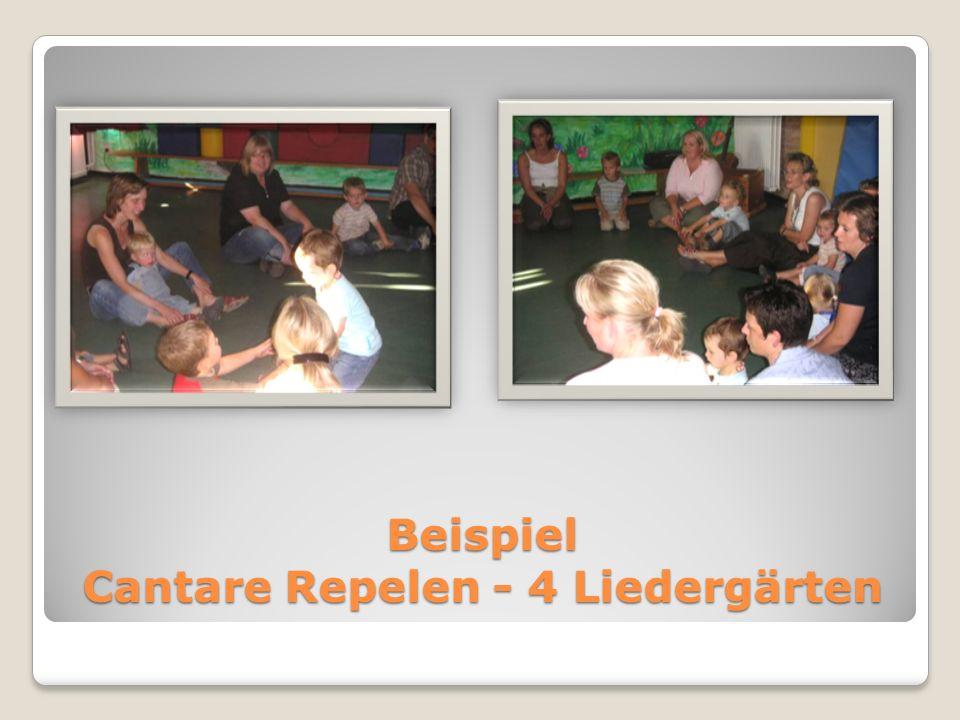 Beispiel Cantare Repelen - 4 Liedergärten