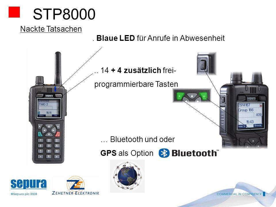 STP8000 Nackte Tatsachen . Blaue LED für Anrufe in Abwesenheit