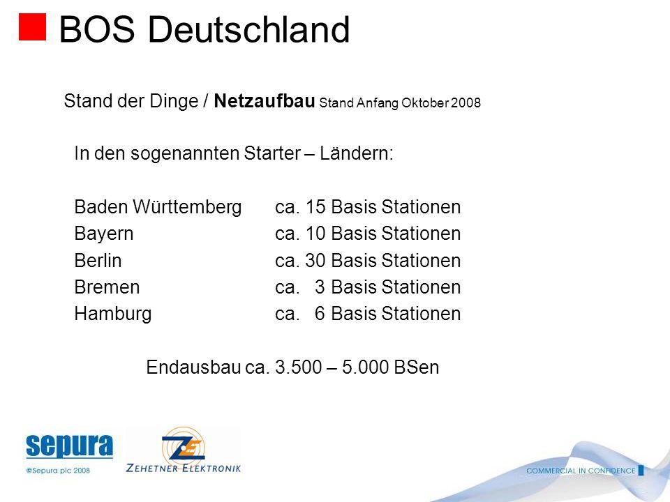 BOS Deutschland Stand der Dinge / Netzaufbau Stand Anfang Oktober 2008