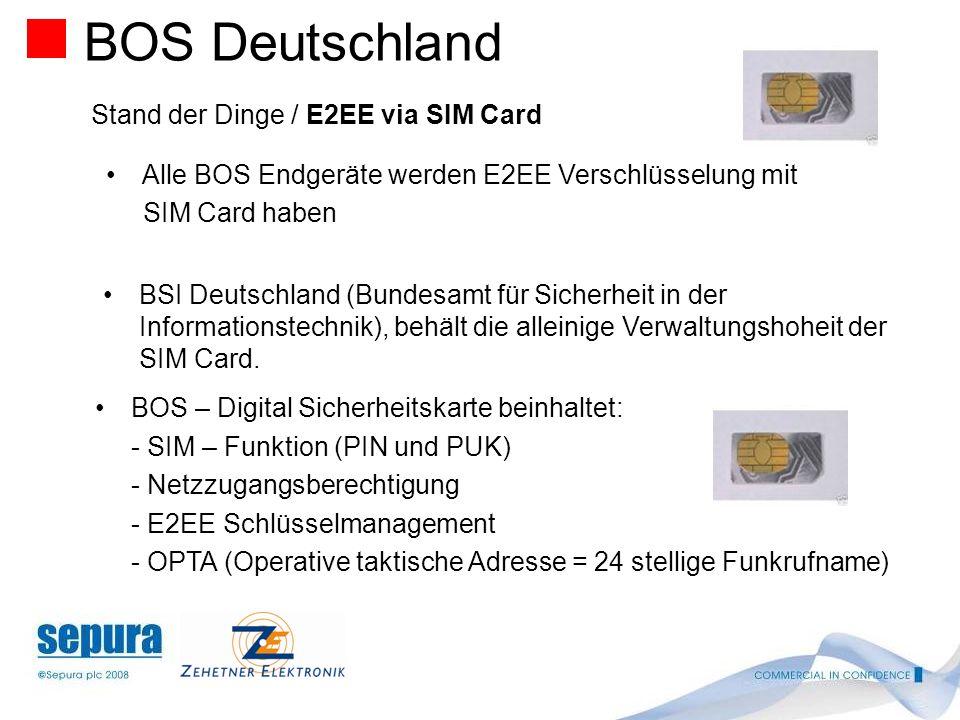 BOS Deutschland Stand der Dinge / E2EE via SIM Card