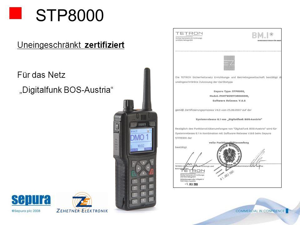 STP8000 Uneingeschränkt zertifiziert Für das Netz