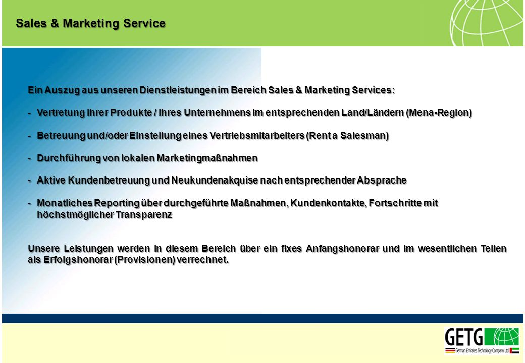 Sales & Marketing Service