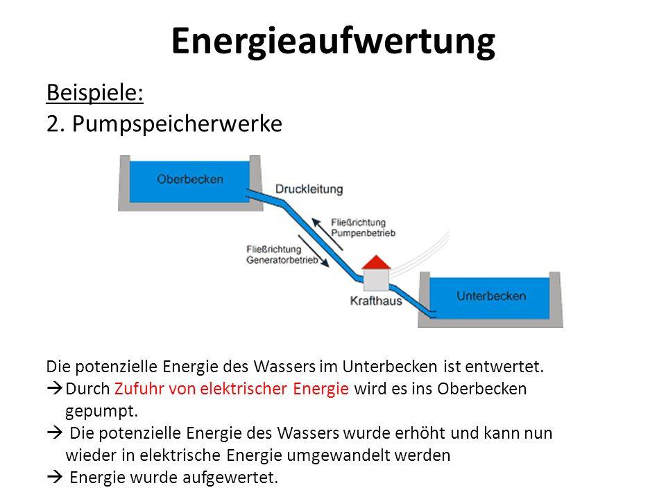 Energieaufwertung Beispiele: 2. Pumpspeicherwerke