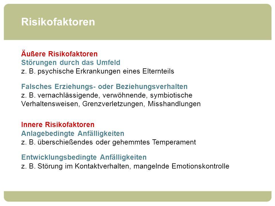 Risikofaktoren Äußere Risikofaktoren