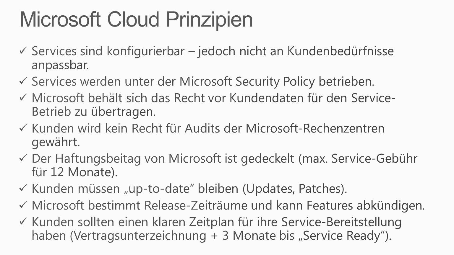 Microsoft Cloud Prinzipien