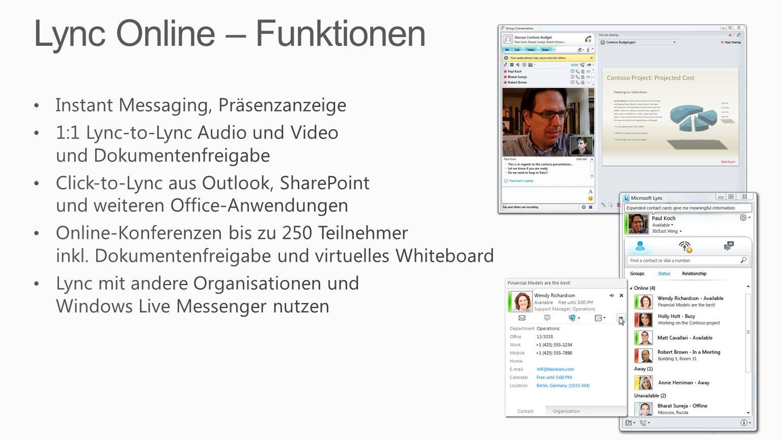 Lync Online – Funktionen