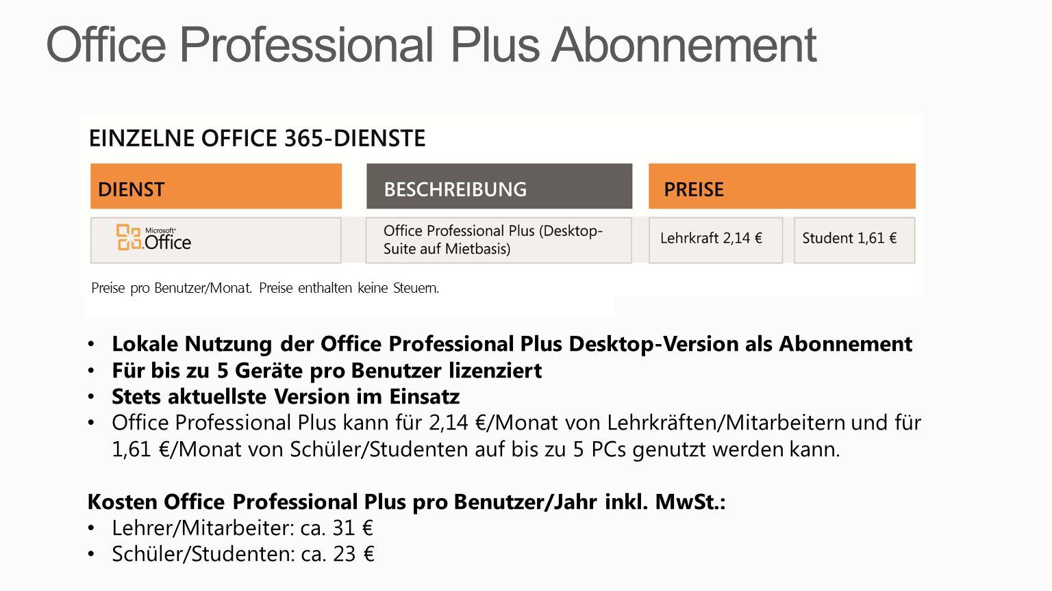 Office Professional Plus Abonnement