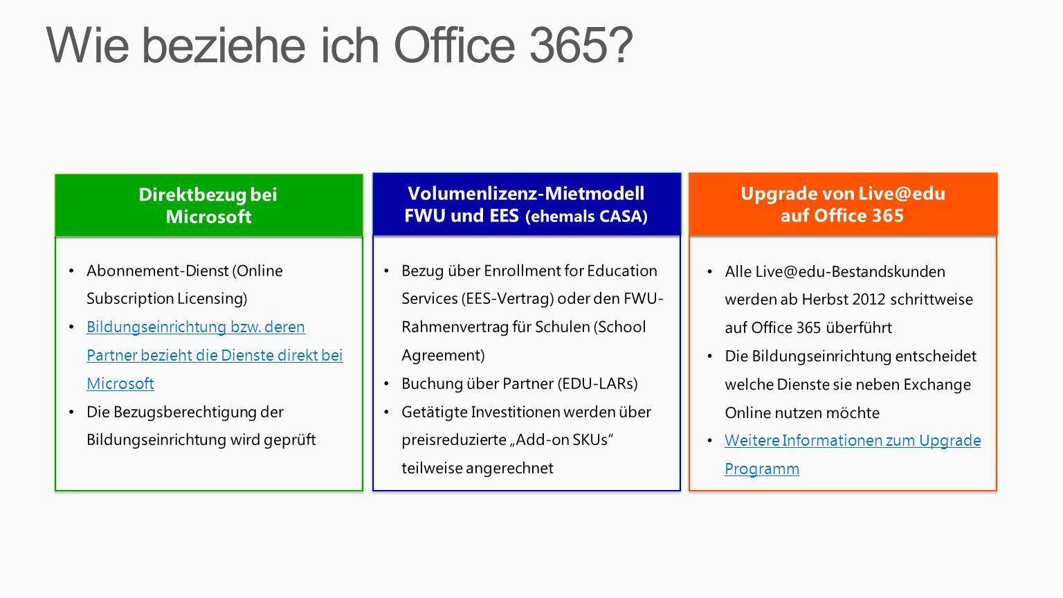 Direktbezug bei Microsoft