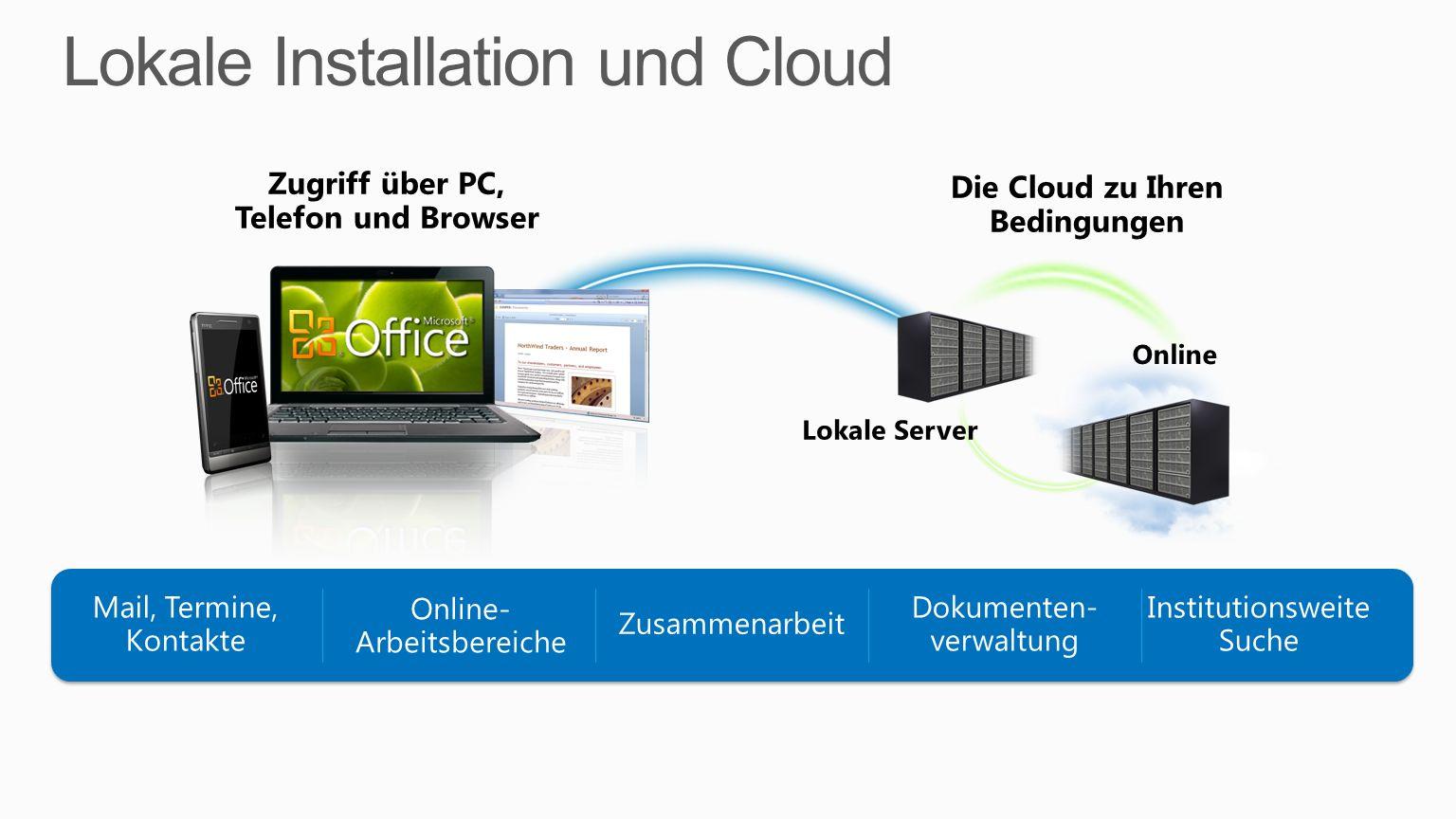 Lokale Installation und Cloud