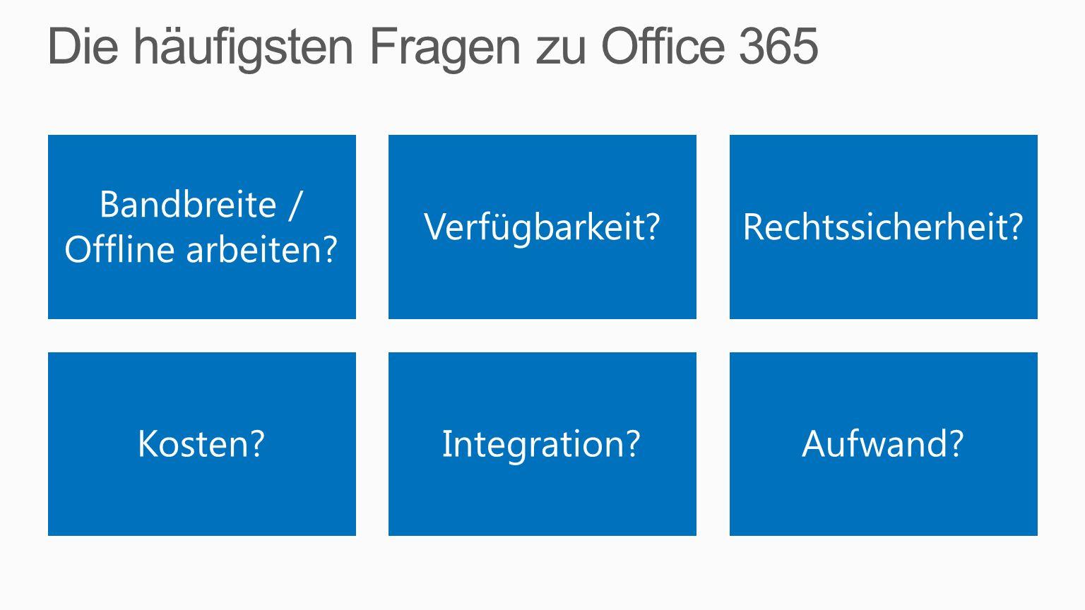 Die häufigsten Fragen zu Office 365