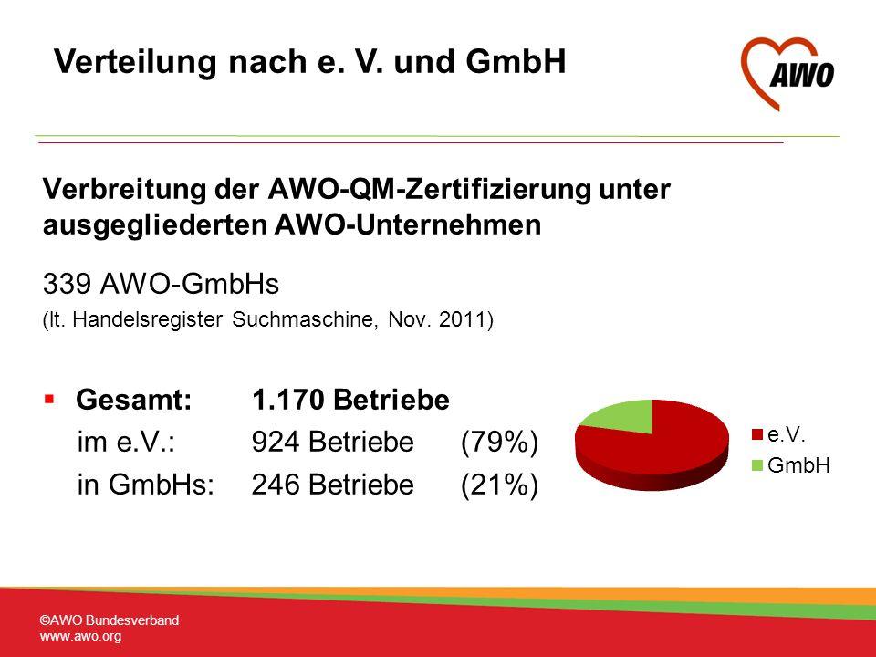 Verteilung nach e. V. und GmbH