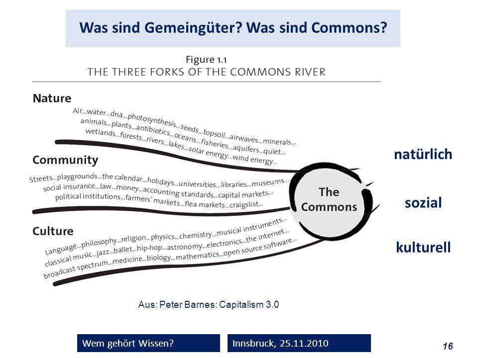 Was sind Gemeingüter Was sind Commons