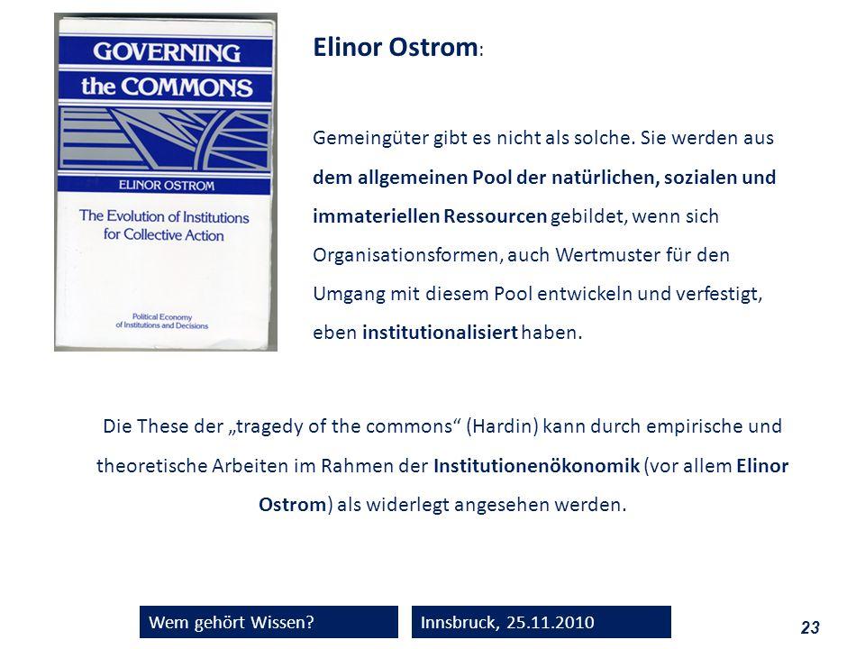 Elinor Ostrom:
