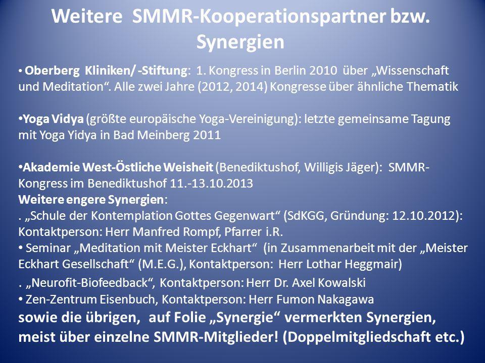 Weitere SMMR-Kooperationspartner bzw. Synergien