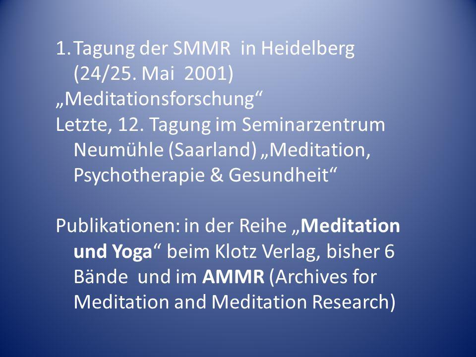Tagung der SMMR in Heidelberg (24/25. Mai 2001)
