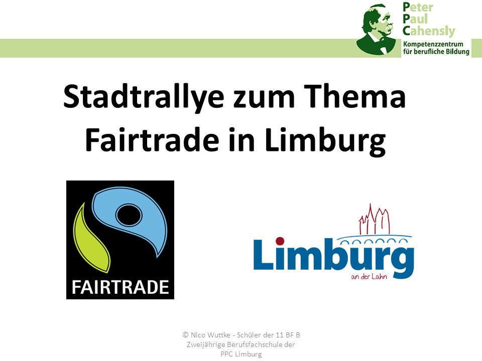 Stadtrallye zum Thema Fairtrade in Limburg