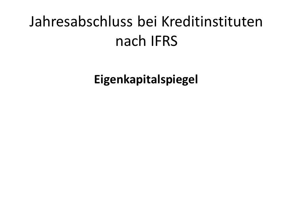 Jahresabschluss bei Kreditinstituten nach IFRS