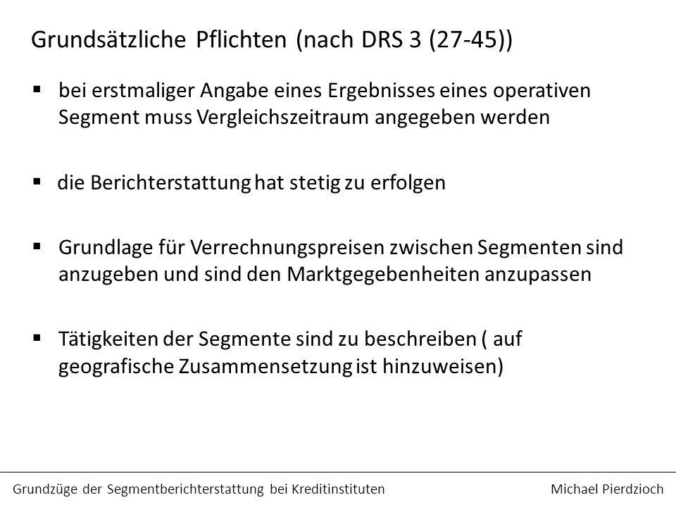 Grundsätzliche Pflichten (nach DRS 3 (27-45))