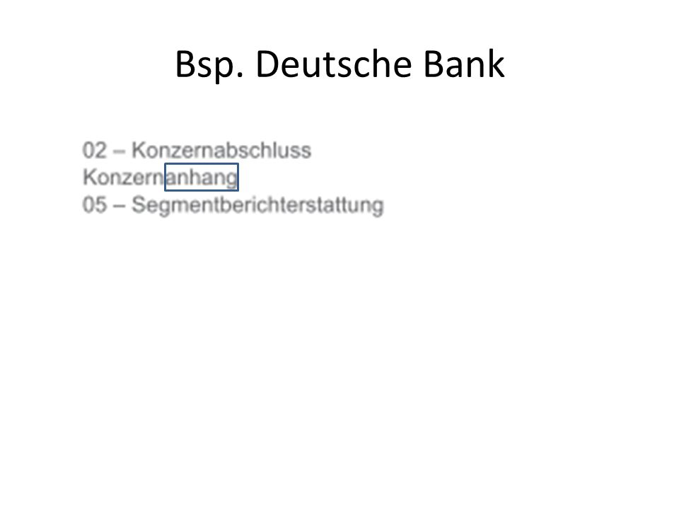 Bsp. Deutsche Bank