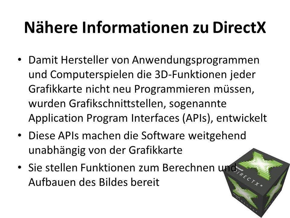 Nähere Informationen zu DirectX