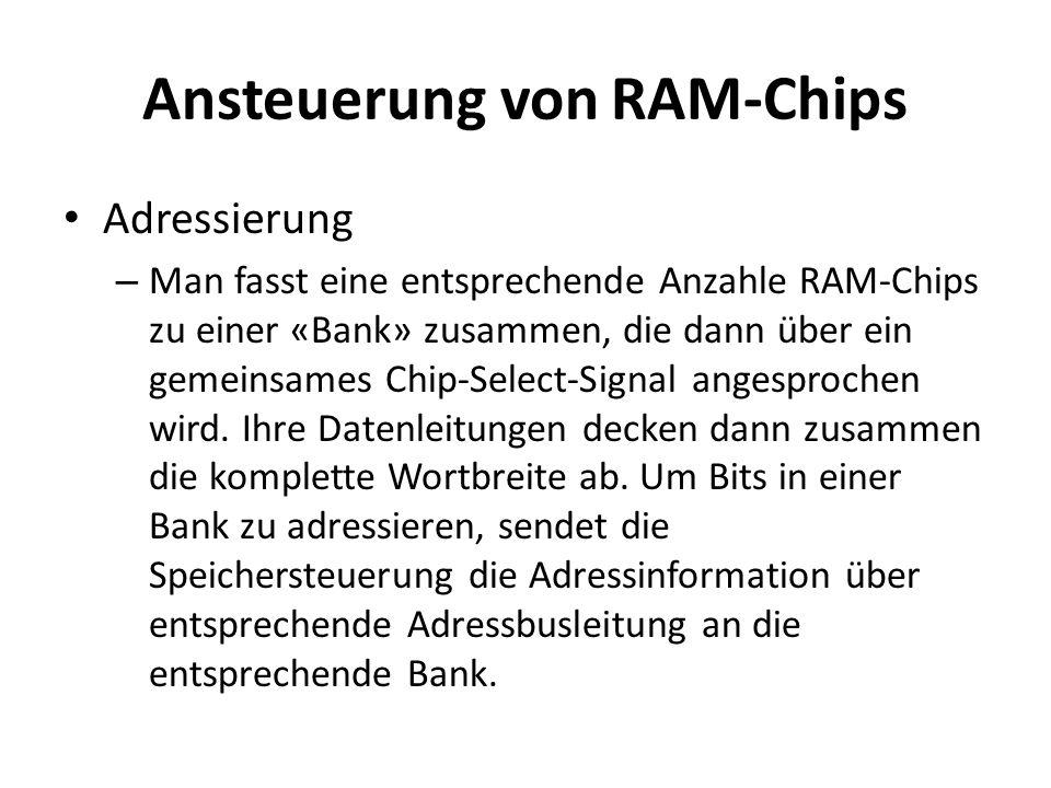 Ansteuerung von RAM-Chips