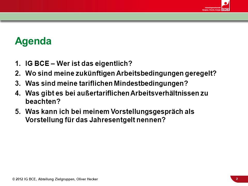 Agenda IG BCE – Wer ist das eigentlich