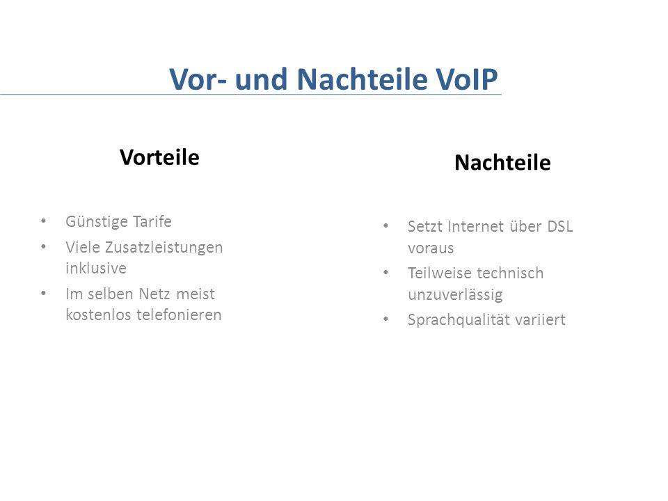 Vor- und Nachteile VoIP