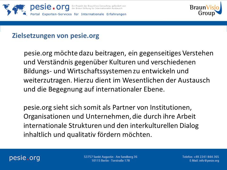 Zielsetzungen von pesie.org