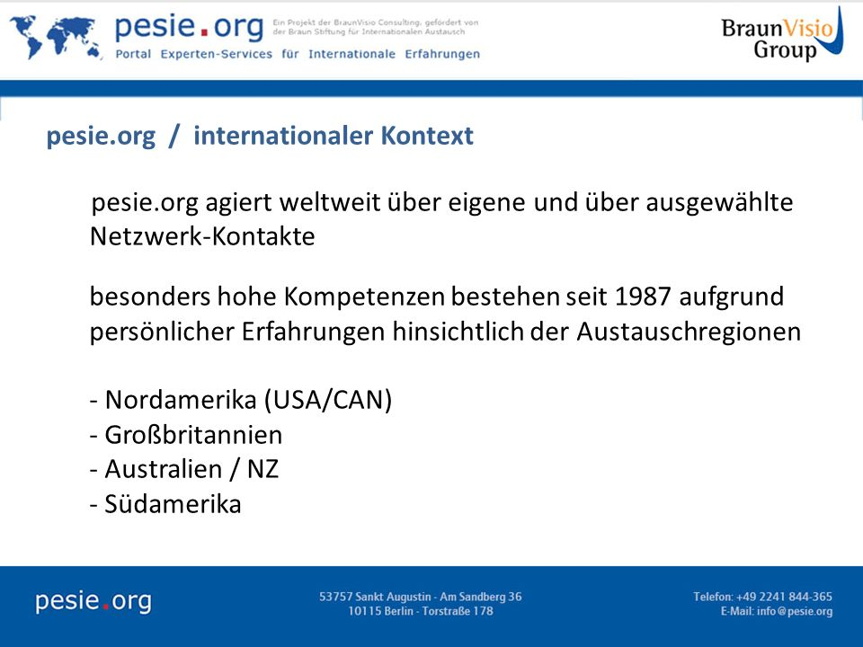 pesie.org / internationaler Kontext
