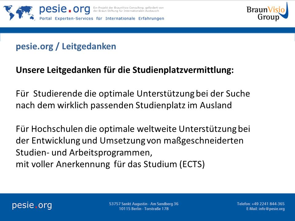 pesie.org / Leitgedanken