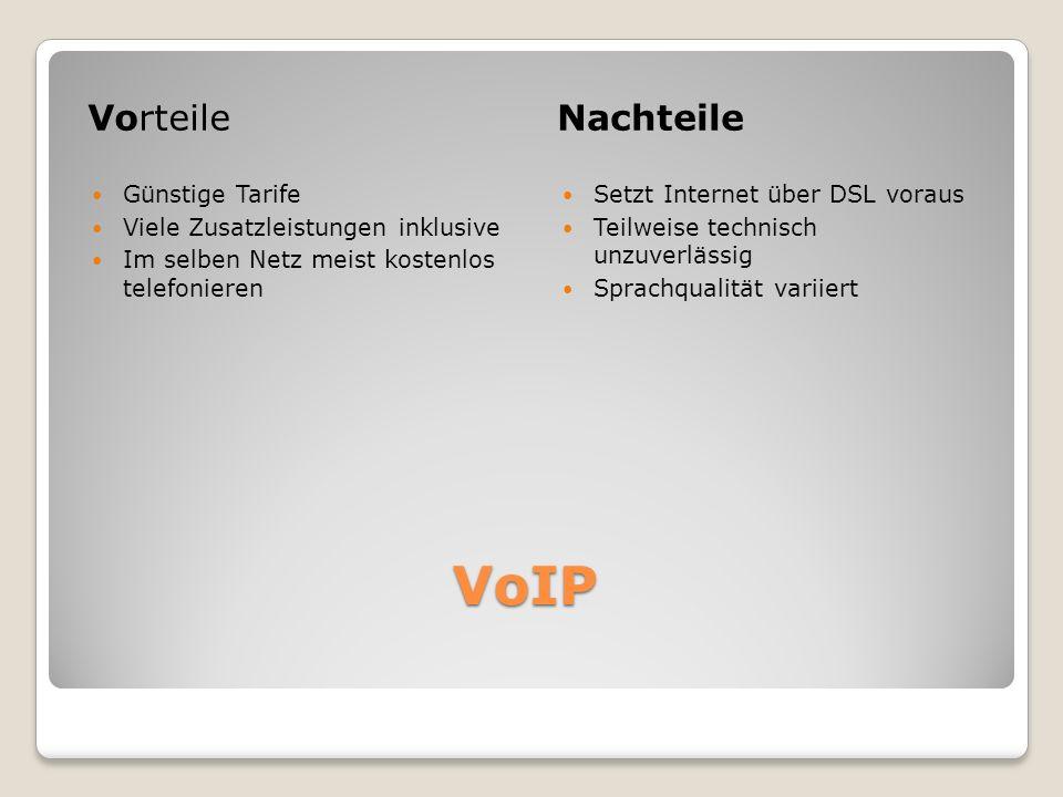 VoIP Vorteile Nachteile Günstige Tarife