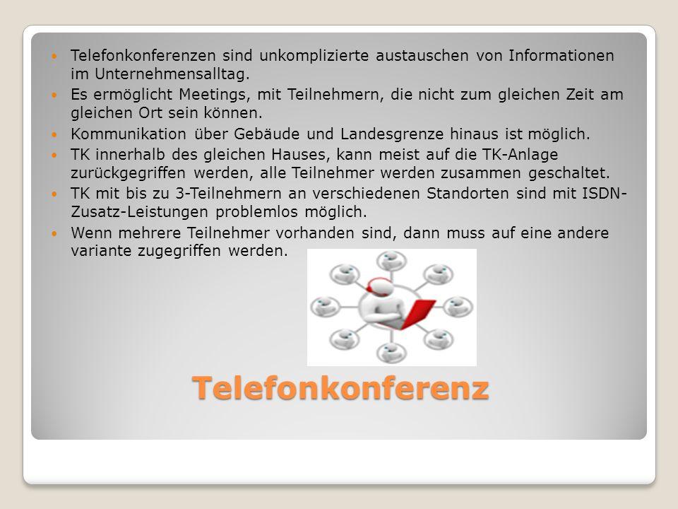Telefonkonferenzen sind unkomplizierte austauschen von Informationen im Unternehmensalltag.