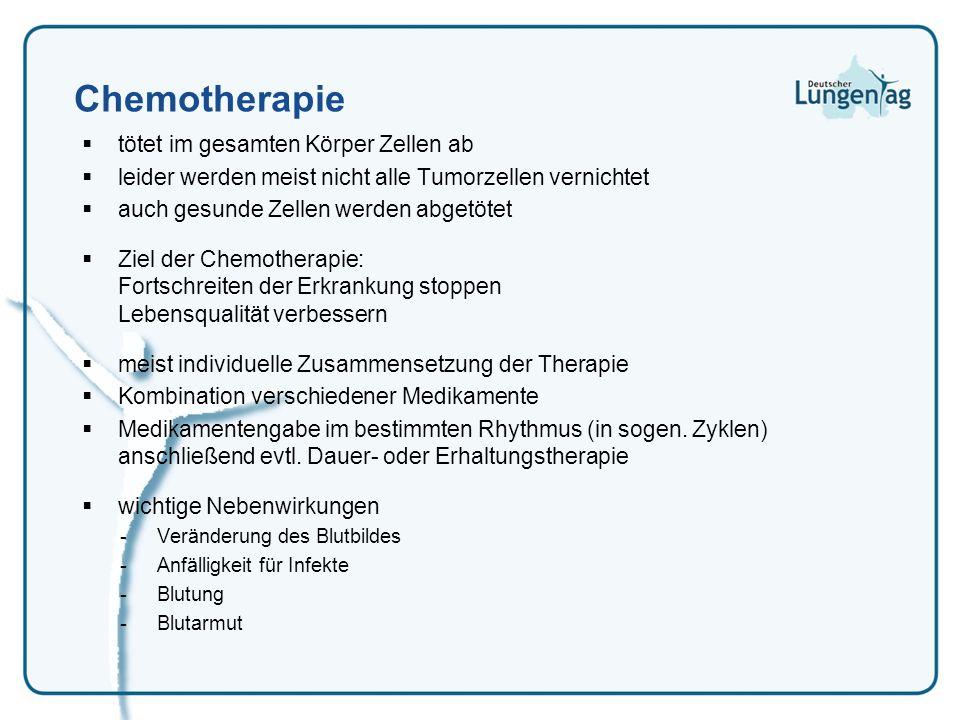Chemotherapie tötet im gesamten Körper Zellen ab