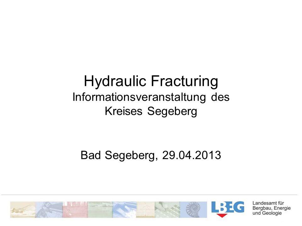 Hydraulic Fracturing Informationsveranstaltung des Kreises Segeberg