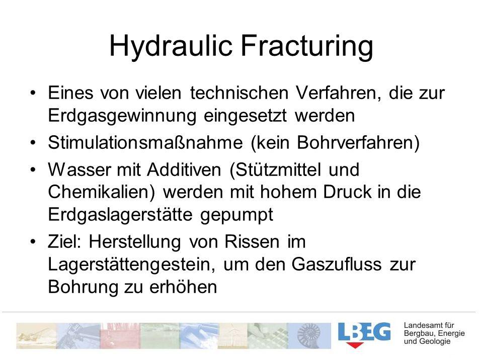 Hydraulic Fracturing Eines von vielen technischen Verfahren, die zur Erdgasgewinnung eingesetzt werden.