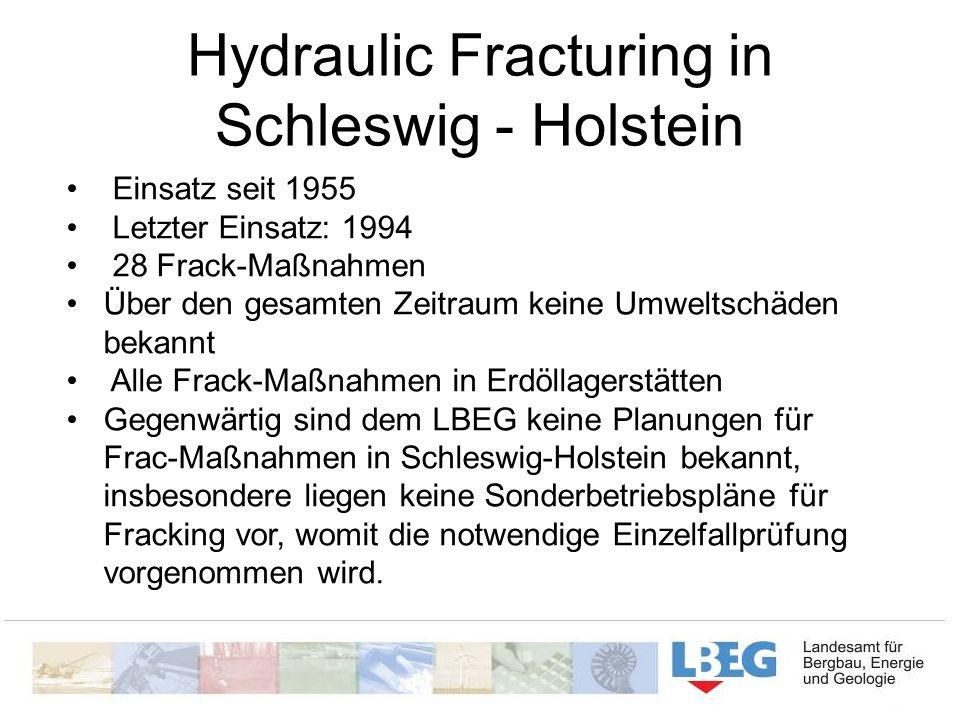 Hydraulic Fracturing in Schleswig - Holstein