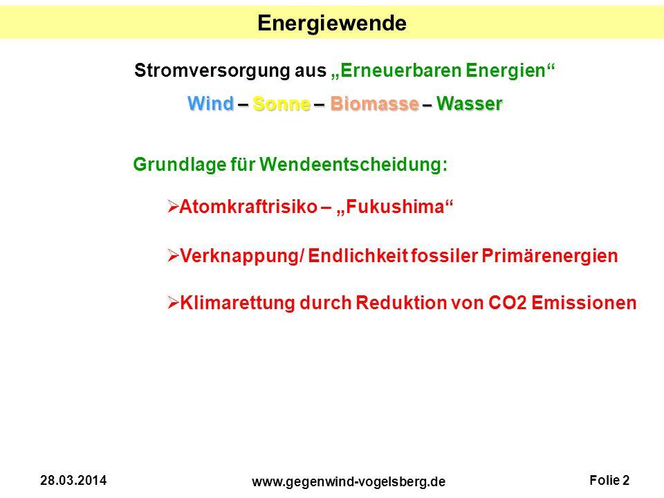 """Energiewende Stromversorgung aus """"Erneuerbaren Energien"""