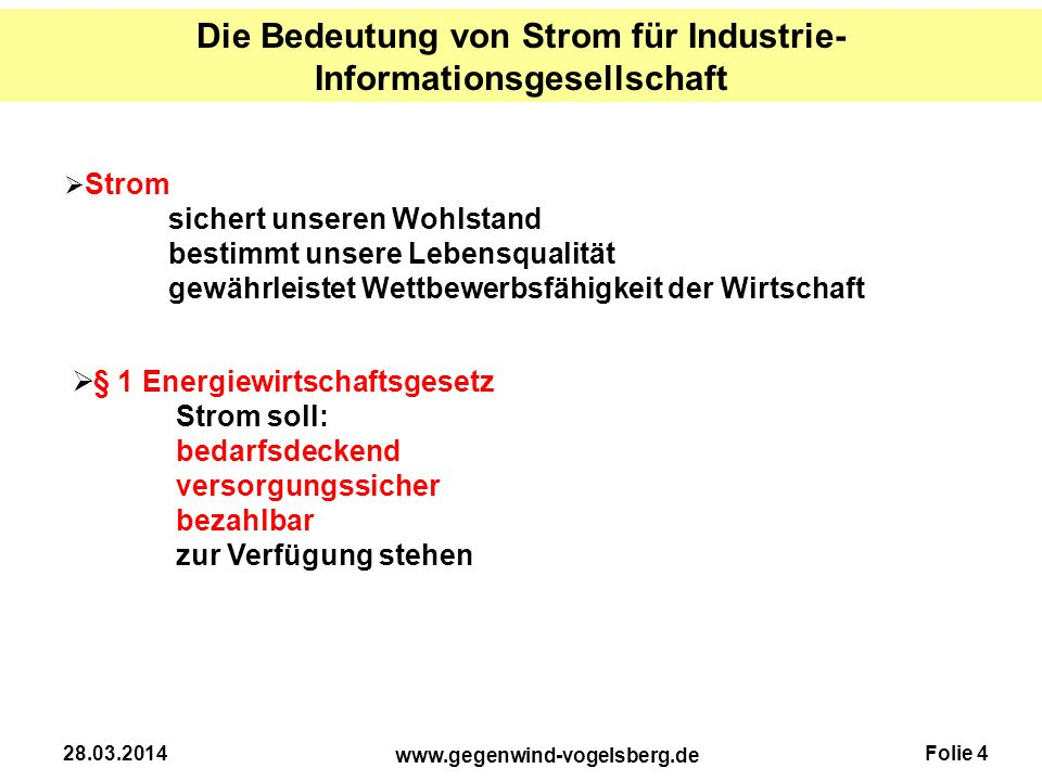 Die Bedeutung von Strom für Industrie-Informationsgesellschaft