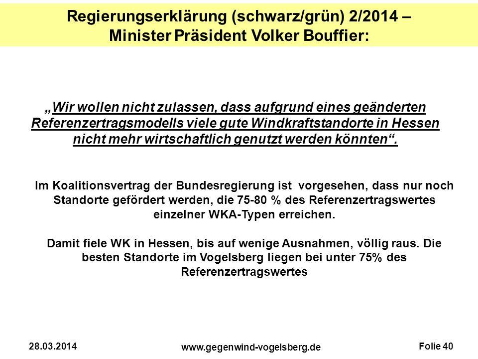 Regierungserklärung (schwarz/grün) 2/2014 –