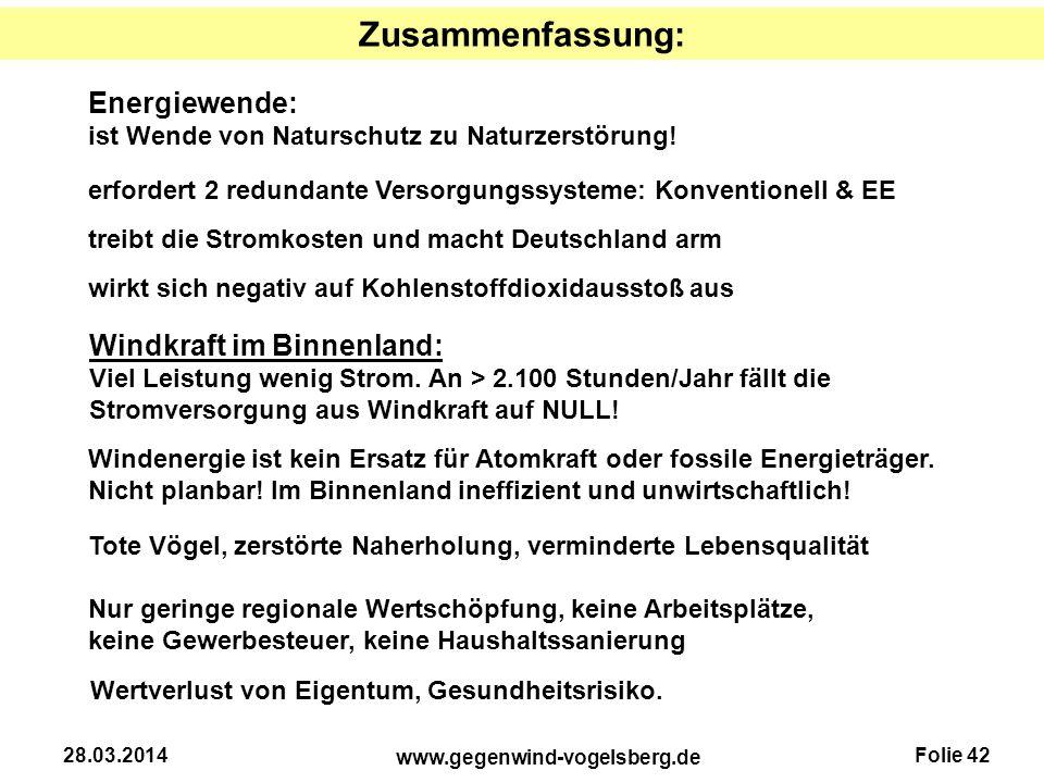 Zusammenfassung: Energiewende: Windkraft im Binnenland: