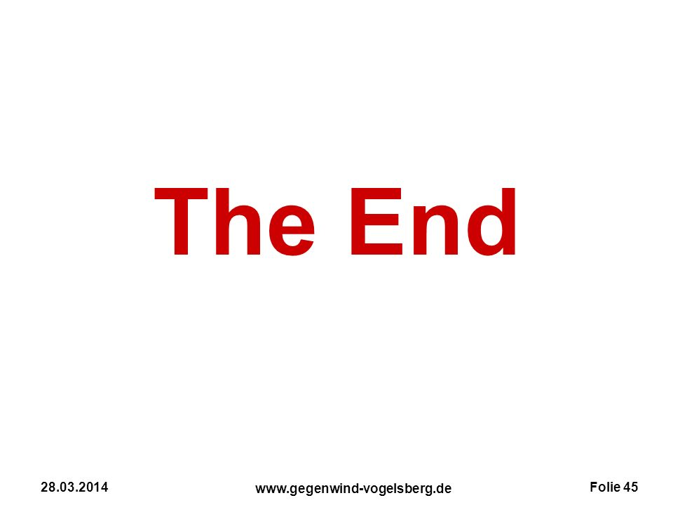 The End 28.03.2014