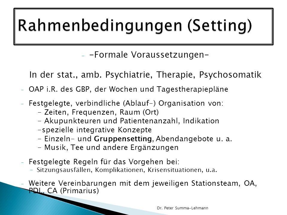 Rahmenbedingungen (Setting)