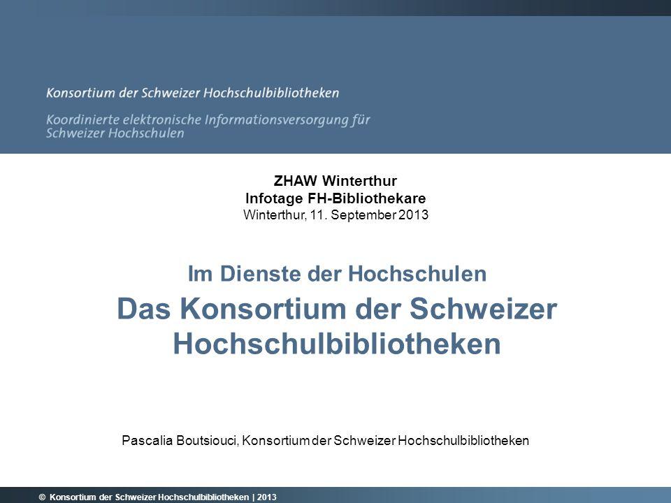 Pascalia Boutsiouci, Konsortium der Schweizer Hochschulbibliotheken