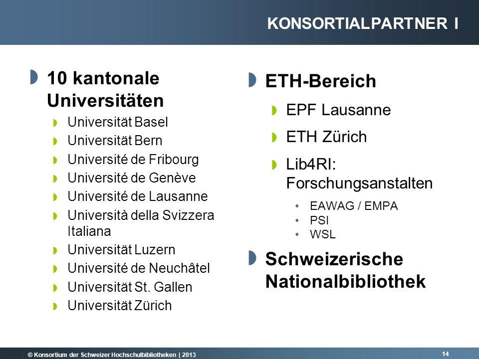 10 kantonale Universitäten ETH-Bereich
