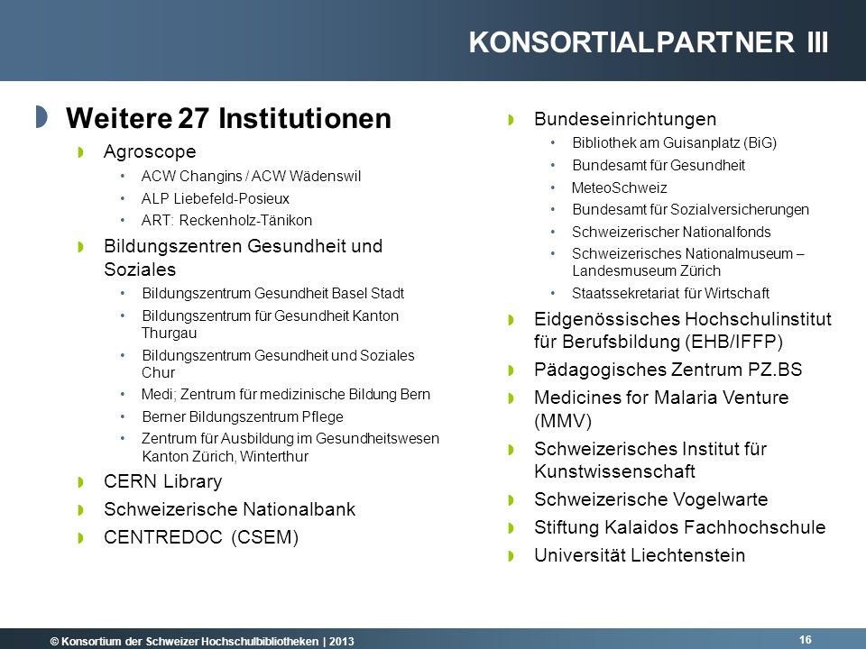Konsortialpartner III